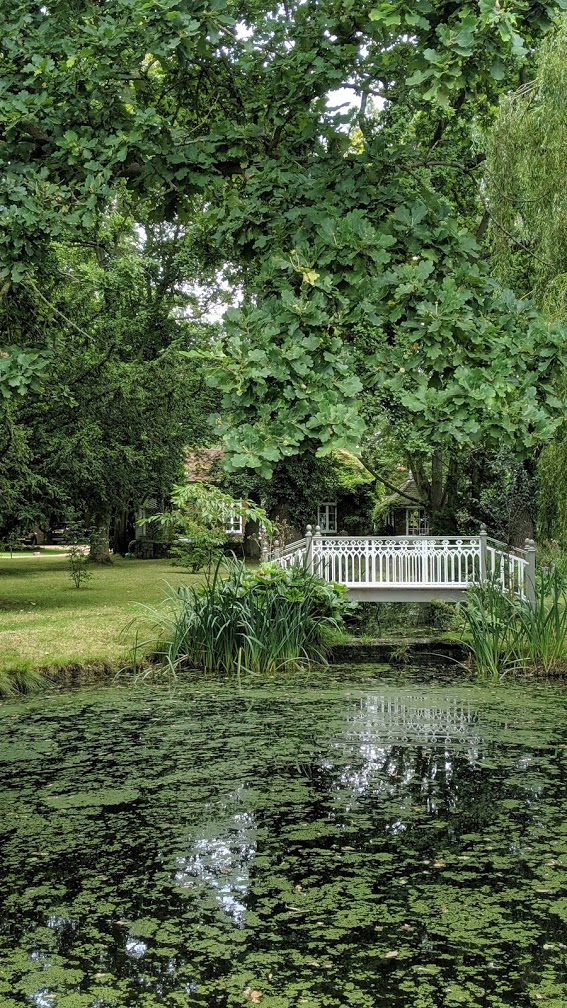 pond at little dower house