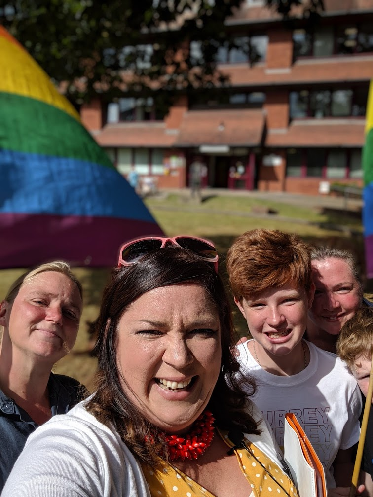 Finan Cooke Family Pride Flag Raising Ceremony