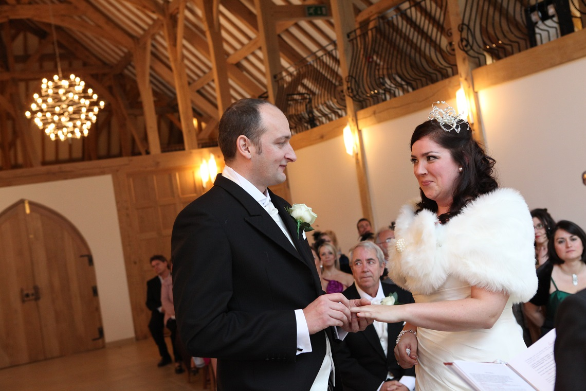 Jenny Knight marries at Rivervale Barn