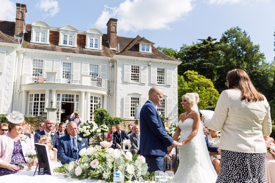 Outdoor wedding at Gorse HiIl with Knight Ceremonies
