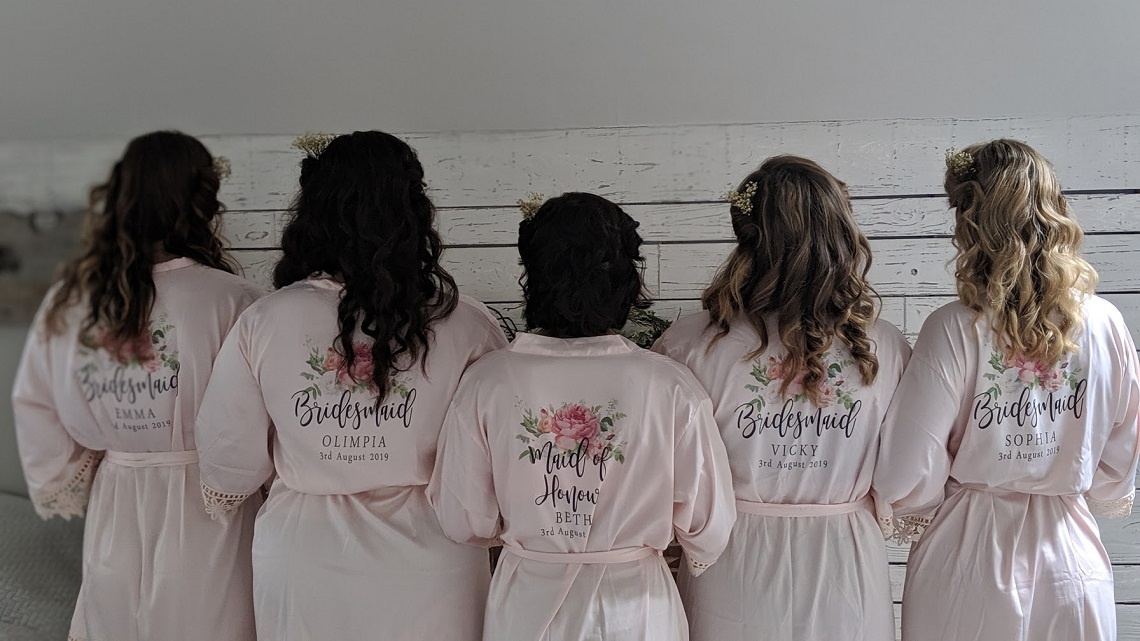 bridesmaids at little dower house