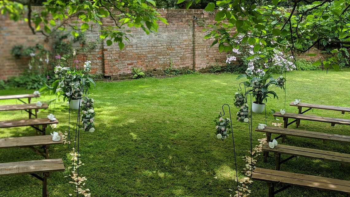 ceremony area little dower house