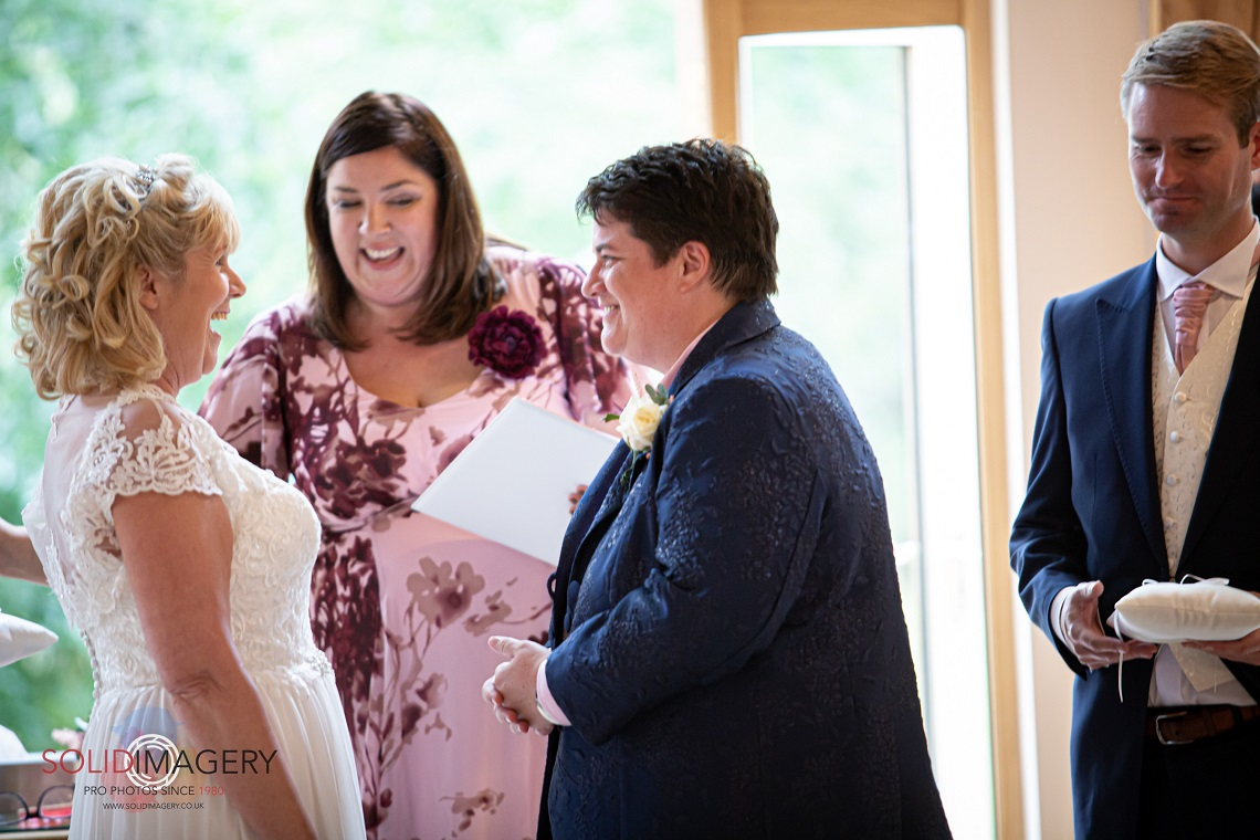 ceremony at rivervale barn