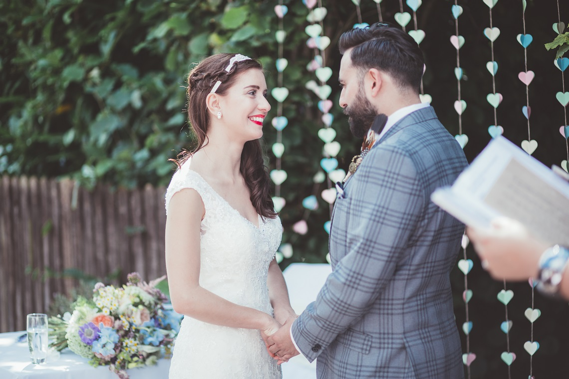 personal wedding vows with a celebrant