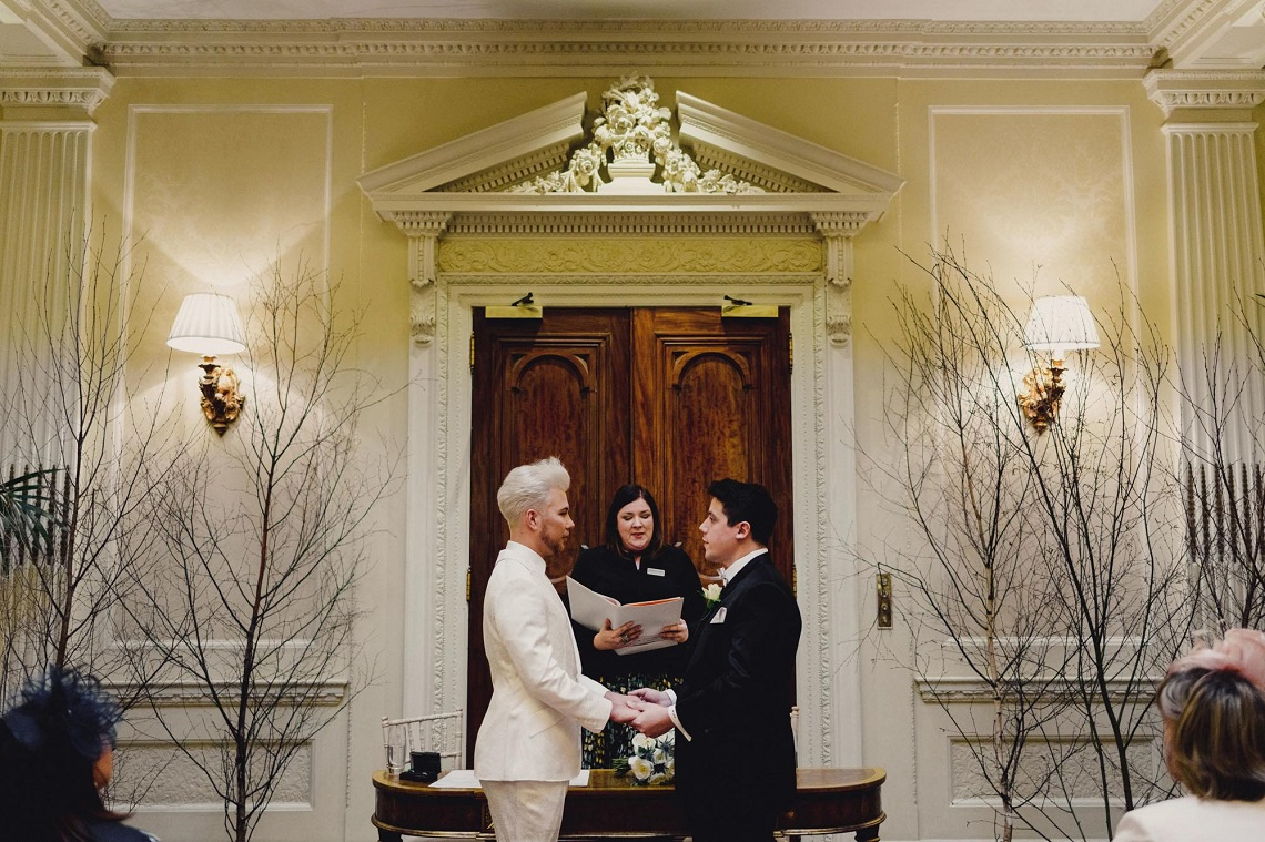 hedsor house gay wedding with knight ceremonies