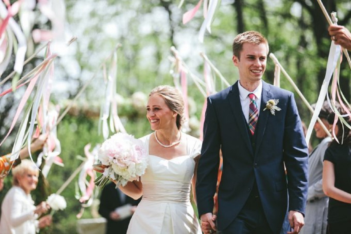 ribbon wands wedding
